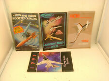 4 ESTES FLYING MODEL ROCKET CATALOGS 1980 TO 1993 STORE USED CATALOG