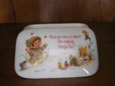 "Hallmark Lovelets ""Friends Have A Talent For Making Things Fun"" 1983 Trinket Box"