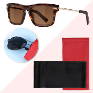 2PCS PU Glasses Pouch Spring Opening Top Glasses Sunglasses Spectacles Pouch