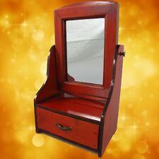 Schmuckschatulle mit Spiegel Mahag. H.17x20x20 Vintage Designer Geschenk Luxus