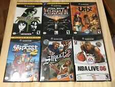 Nintendo Gamecube 6 Game Lot Urbz NBA NFL Street Soul Caliber II SW Rogue Leader