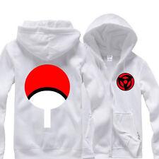 Anime Naruto Sasuke Sharingan Hoodie Cotton Hooded Sweatshirt Zipper Coat Unisex