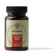 Vitamin B12 hochdosiert 100% Vegan | 1000 µg Methylcobalamin | 180 Tabletten