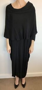 Alistair Trung Size 1 (8/10) Black Crepe Layered Dress Australian Designer Label