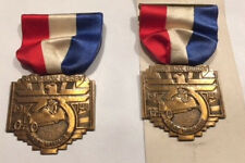 Soap Box Derby Racing Medals- 1941Heat Winner Ravenna Kent Ohio - set of 2