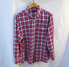 JA John Ashford Plaid Cotton Flannel Button Down Shirt Top Mens XL