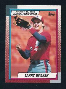 LARRY WALKER 1989 TOPPS Major League Debut #133 ROOKIE EXPOS ROCKIES HOF  RC