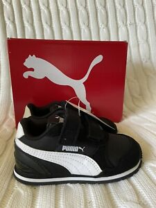 NEW Puma ST Runner V2 Infant 6 Strap Sneaker Toddler Kids Shoes Black White