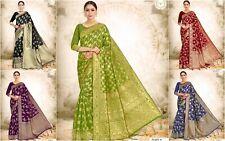 Banarasi silk saree indian wedding bridal ethnic wear formal designer sari AC
