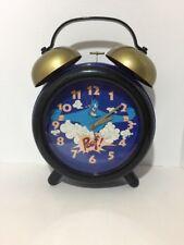 Vintage Disney's Aladdin Genie Jumbo Twin Bell Alarm Clock By Sunbeam (Works)