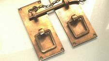 """Door box Latch catch brass furniture rectangle bolt chain old asian style 4"""" age"""