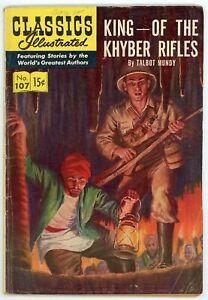 Classics Illustrated 107 HRN 118 King of the Khyber Rifles Talbot Mundy VG+