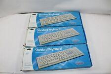 Lot of 3 New Belkin F8E223 Standard PS/2 Wired 104 QuietType Keyboard
