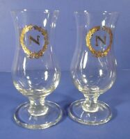 "Set of 2 Vintage Napoleon Brandy Snifters Glasses Tulip Shaped 4 5/8"""