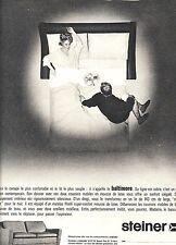 PUBLICITE ADVERTISING 034 1964 STEINER meuble lit canapé