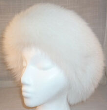 Real White Fox Fur Headband (made in the U.S.A.)