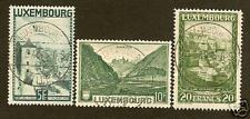 Luxembourg   3 High Francs Value  Scott  197-199