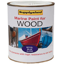 Marine Boat Gloss ROYAL BLUE Paint for Wooden Boats 750ml