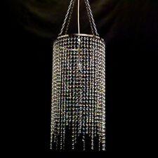 CRYSTAL Glass CHANDELIER LIGHT Lamp chandlier Chandalier  CHROME 30d/60dru