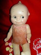 Very Rare, antique composition flange-neck Kewpie doll w/j'td. cloth limbs a/o