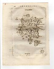 GREECE GREEK PIACENZA 1688 MAP OF STALIMENE LEMNOS LIMNOS