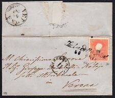 STORIA POSTALE ASI 186? Lettera LV 5s da Isola della Scala a Verona (FB2)