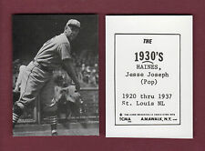 The 1930s: [#35] JESSE HAINES, Cardinals (1972 TCMA) Hall of Fame member