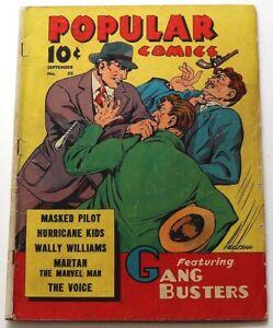 POPULAR COMICS #55 (E.C. STONER CVR, MARTAN THE MARVEL MAN & MORE!!!, DELL 1940)