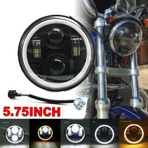 """5.75"""" 5-3/4"""" Headlight  DRL LED Eye Light for Harley Davidson Dyna Sportster"""