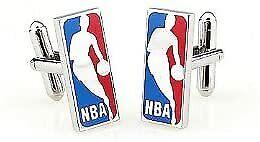 Red and Blue NBA Logo Basketball Cufflinks Hoop 3-D Ball Sports Ball Cuff Links