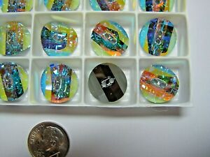 Vintage Swarovski® Buttons  #3016 - 16mm - CRYSTAL AB M-FOILED - 24 Pieces