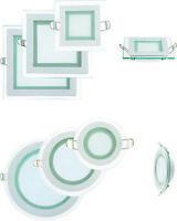 LED Glas Panel Flach Einbaustrahler Deckenleuchte Beleuchtung mit Trafo Weiß