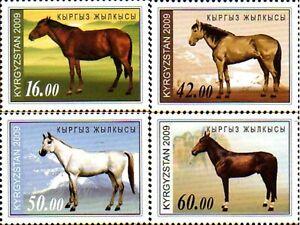 1150 - Kyrgyzstan - 2009 - Kyrgyz Horses - 4v - MNH - Lemberg-Zp