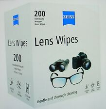 ZEISS OPTICAL LENS CLEANING WIPES Glasses Camera Screen 8, 40, 80 or 200 Pack
