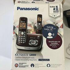 Panasonic Cordless Digital Phone KX-TG6572 Caller ID Color: Black