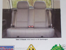 Holden Commodore VE Child Dickie Seat 3rd Row Dicky Seat Dickey Seating Take  VF
