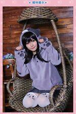 New Woman Game Neko Atsume Hoodie Jacket Sweater Sweatshirt Cat Ears Cute Coat