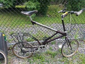Bike Friday, Steel, Burgandy, with titanium Beam.