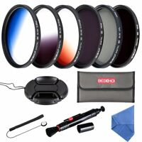 Beschoi 67MM ND Filter Kit  Graduated Color Filter Set  for Camera Lenses with