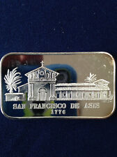 1976 Eldorado Mint San Francisco De Asis EDM-15 Silver Art Bar P0902