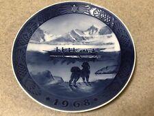 Royal Copenhagen Collector Plate The Last Umiak Den Sidste Konebad Denmark 1968