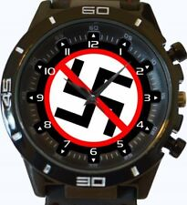 Anti Nazi Sign New Gt Series Sports Wrist Watch FAST UK SELLER