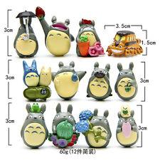 12pcs Hayao Miyazaki Japan Cartoon My Neighbor Totoro Figures Toy Gift Collect