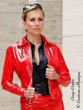 Lackjacke Blouson Rot Glänzend Lack Jacke Vinyl Maßanfertigung