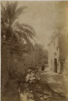 Tunisie, Rue de Tunisie vintage albumen print, Tunisia Tirage albuminé  10x1