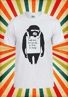 Banksy Monkey Lough Now Hipster Funny Men Women Vest Tank Top Unisex T Shirt 454