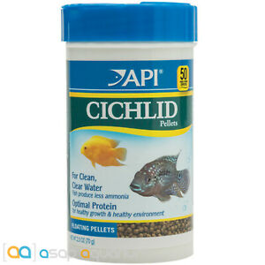 API Cichlid Pellets 2.5oz Optimal Protein for Clean Clear Water 2mm Pellets