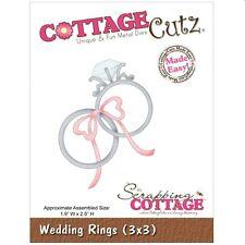 COTTAGE CUTZ WEDDING RINGS DIE CUTTING DIES - NEW UNIVERSAL FIT
