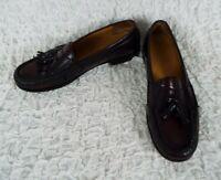 COLE HAAN Burgundy Tassel Loafers Men's Size 13 D