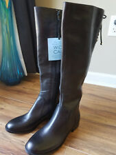 Antonio Melani New Riding Boots Leather Black 6 Wide Calf